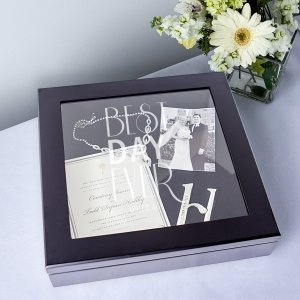 Personalized Best Day Ever Keepsake Shadow Box image