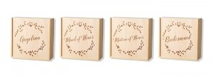 Bridal Party Floral Wreath Attendant Box image