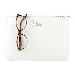 Bride or Mrs Vegan Leather Clutch image