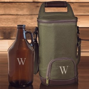 Personalized Insulated Growler Cooler w/ Amber Growler image