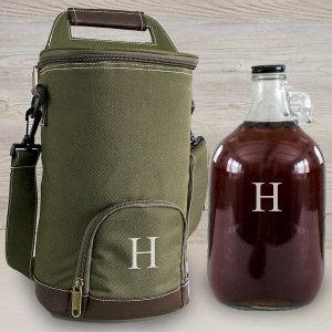 Personalized Insulated Growler Cooler w/ Clear Growler image