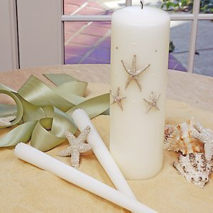 Beach Collection Starfish Unity Candle Set image