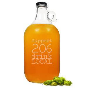 Personalized 64 oz. Drink Local Craft Beer Growler image