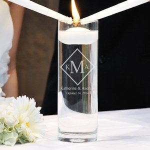 Diamond Monogram Floating Unity Candle image