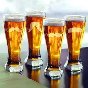 Gentleman's Mustache Pilsners - Set of 4 image