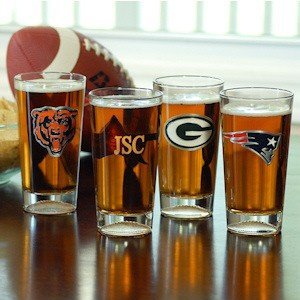 Personalized NFL Pint Glasses - NFC Teams image