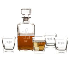 Oh What Fun 5 pc. Decanter Set image