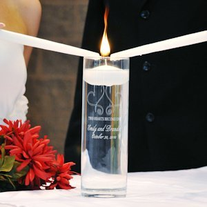 Whimsical Hearts Personalized Floating Unity Candles image