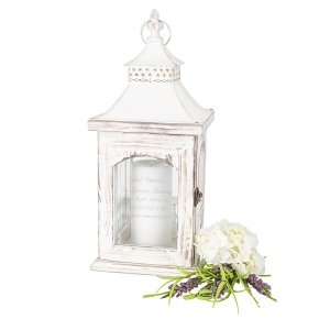 Personalized Memorial Verse Rustic Memorial Lantern image