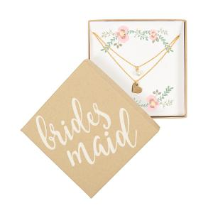 Matron of Honor Double Chain Necklace- Gold image
