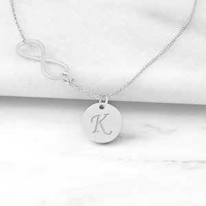 Personalized Infinity Necklace with Charm image