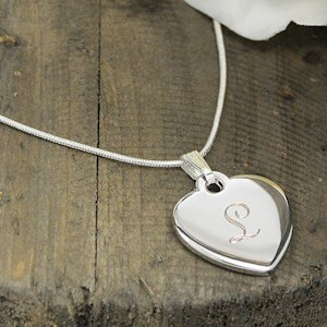 Monogrammed Heart Necklace image