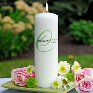 Personalized Colorful Elegance Unity Candle image