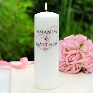 Embracing Hearts Personalized Unity Candle image