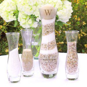Personalized Hourglass Unity Sand Ceremony Kit image