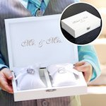 Ring Bearer Pillow Keepsake Box (Black or White)
