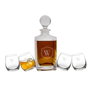 Personalized Tipsy Whiskey Decanter Set image