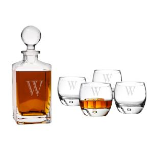 Personalized Square Decanter Set image