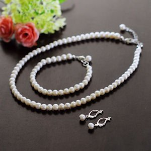 6mm Classic Freshwater Pearl Jewelry Set image