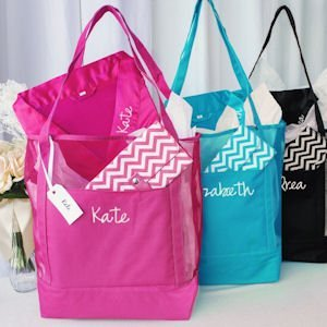 Personalized Mesh Tote and Robe Spa Set image