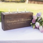 Personalized Rustic Sugar Mold Unity Candle