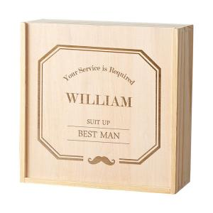 Personalized Best Man Wooden Gift Box image