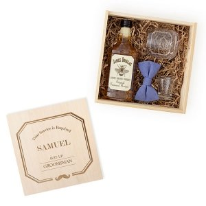 Personalized Best Man or Groomsman Spirit Gift Box Set image