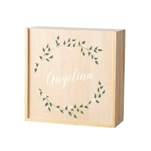 Personalized Bridesmaid Floral Wooden Gift Box image