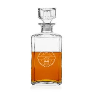 Personalized Groomsman 34 oz. Whiskey Glass Decanter image
