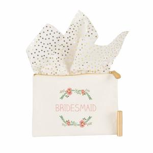 Maid of Honor Floral Canvas Clutch image