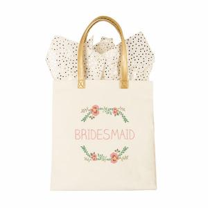 Maid of Honor Floral Canvas Tote image