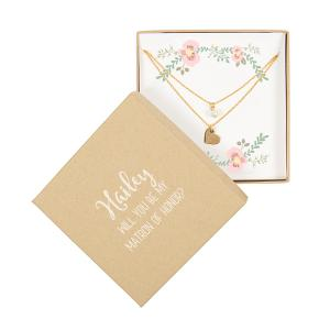 Personalized Double Chain Necklace- Gold image