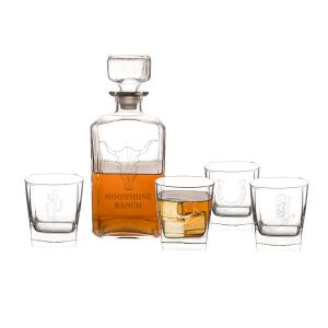 Personalized Western 5 pc. Decanter Set image