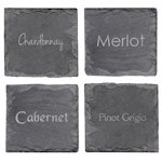 Wine Connoisseur Slate Coasters (Set of 4)