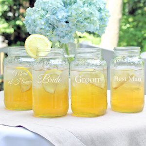 Wedding Party Mason Jars (Set of 4) image