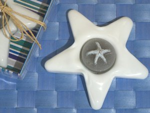 Ceramic Starfish Candle Holder image