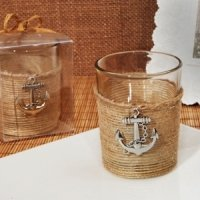Nautical Charm Rustic Candle Holder Favor