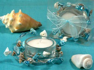 Blue Beach Theme Candle Holder image