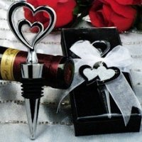 Two Hearts Bottle Stopper Wedding Favor