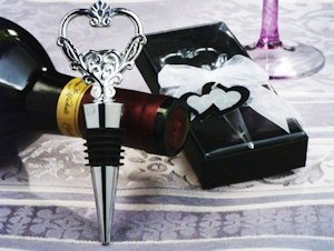 Unique Heart Wine Stopper and Bottle Opener image