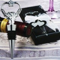 Unique Heart Wine Stopper and Bottle Opener