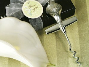 Graceful Calla Lily Chrome Wine Opener Favor image