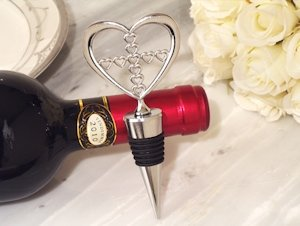 Heart Wine Stopper with Cross Design image