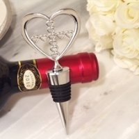 Heart Wine Stopper with Cross Design