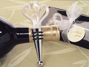 Calla Lily Heart Wine Stopper Favors image