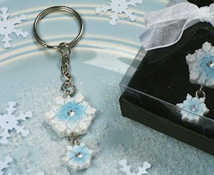 Blue Snowflake Keychain Favor image