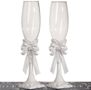 Elegant Bow Collection Toasting Flutes image