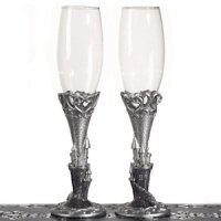 Platinum Castle Collection Toasting Glasses
