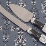 Platinum Castle Collection Cake and Knife Set
