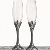 Fleur De Lis Collection Toasting Glasses